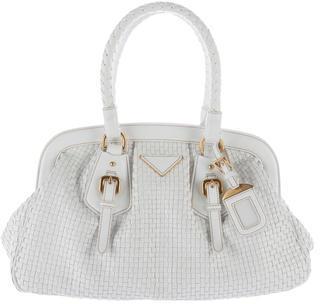 pradaPrada Madras Intreccio Handle Bag