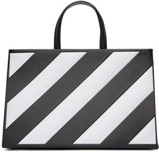 Off-White Black Medium Diagonal Box Bag