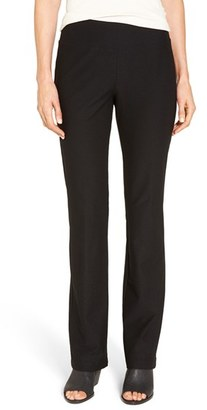Eileen Fisher Washable Stretch Crepe Bootcut Pants $168 thestylecure.com