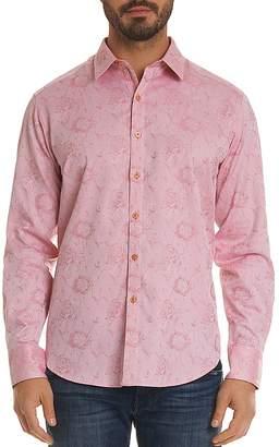 Robert Graham Gilberts Floral Regular Fit Button-Down Shirt