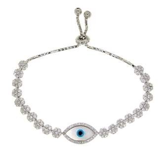 Mother of Pearl Cosanuova - White Evil Eye Bracelet