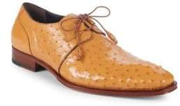 Mezlan Ostrich Leather Derbys