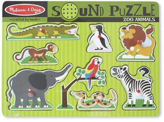 Melissa & Doug NEW Zoo Animals Sound Puzzle 8pce