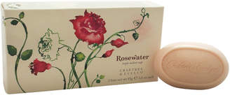 Crabtree & Evelyn Set Of Three 3Oz Rosewater Triple Milled Soaps