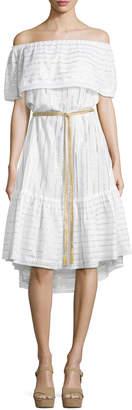 Miguelina Amaya Off-the-Shoulder Coverup Dress
