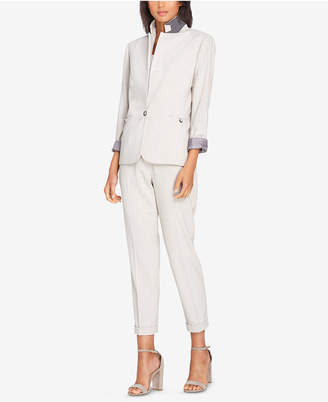 Tahari ASL One-Button Plaid Pantsuit