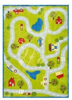nuLoom Kinderloom Alton Kids Road Print Rug