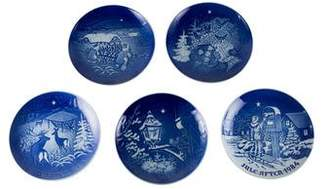 Royal Copenhagen 5-Piece Christmas Plates 1980-1984
