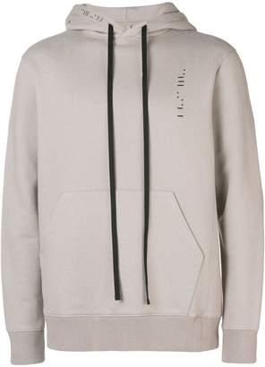 Unravel Project drawstring hooded sweatshirt