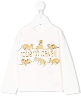 Roberto Cavalli tiger logo T-shirt