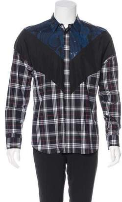 Givenchy Plaid & Paisley Print Shirt w/ Tags