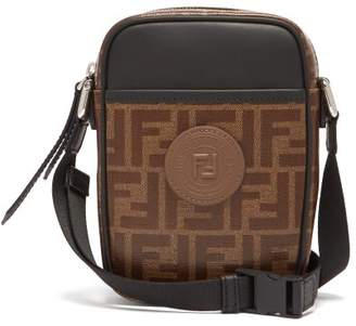 Fendi Double F Leather Cross Body Bag - Mens - Brown f6b9ab048c8db