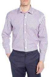 English Laundry Trim Fit Plaid Tattersall Plaid Dress Shirt