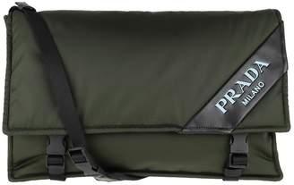 Prada Logo Crossbody Bag Large Nylon Militare