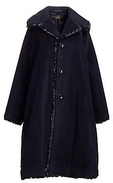 Comme des Garcons Women's Wool-Blend Ruffle Trim Coat
