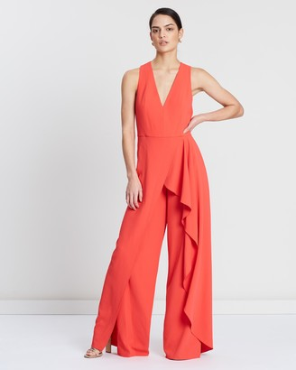 Alice + Olivia Maxie Ruffled Jumpsuit