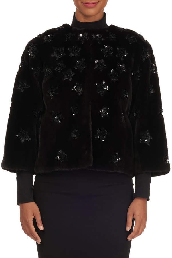 Sequined Mink-Fur Jacket