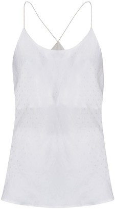 Gisy Morning No.1 White Silk Pajama Camisole