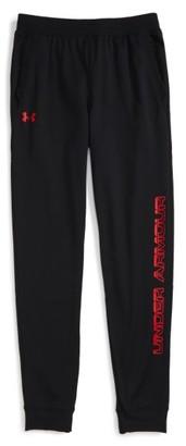 Boy's Under Armour Logo Graphic Sweatpants $29.99 thestylecure.com