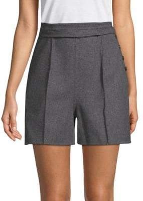 Valentino Wool Button Shorts