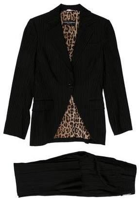 Dolce & Gabbana Virgin Wool Pinstripe Pantsuit