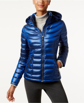 Calvin Klein Hooded Packable Puffer Coat $160 thestylecure.com