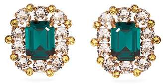 Dolce & Gabbana Crystal Clip Earrings - Womens - Gold