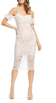 Dress the Population Sacha Cold-Shoulder Lace Dress