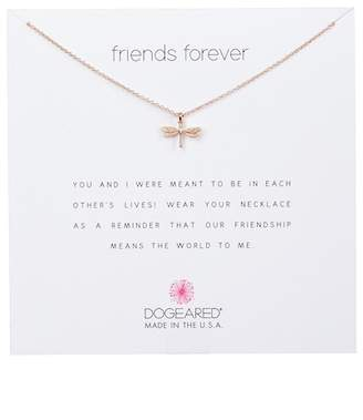 Dogeared Rose Gold Vermeil Friends Forever Dragonfly Pendant Necklace