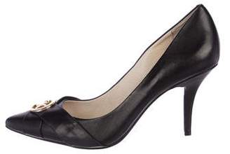MICHAEL Michael Kors Leather Pointed-Toe Pumps