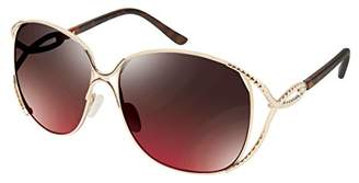 Rocawear Women's R569 GLDTS Oval Sunglasses