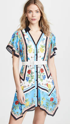 Alice + Olivia Conner Handkerchief Shirtdress