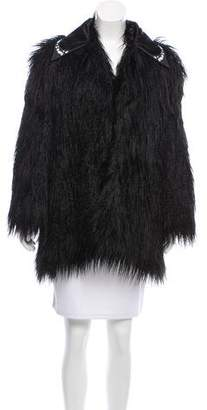 Giamba Short Faux Fur Coat