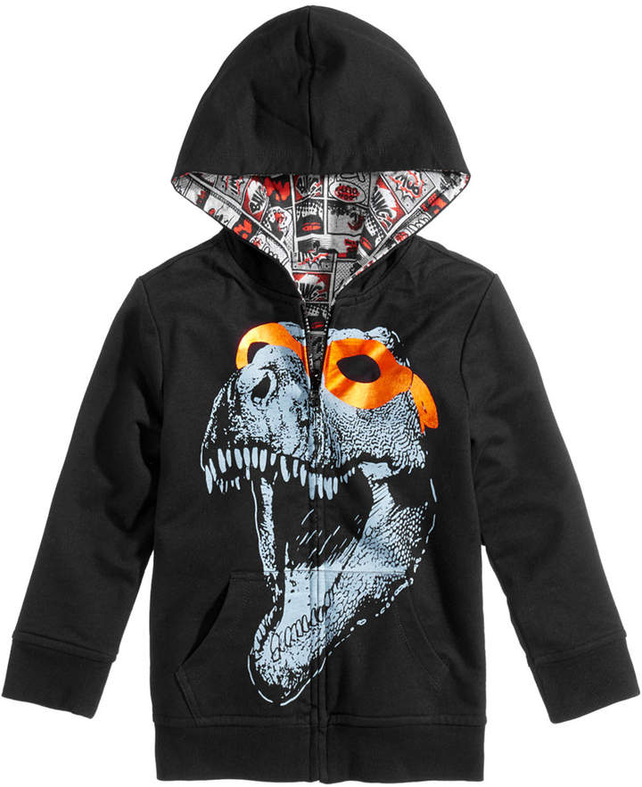 Reversible Dino-Print Hooded Jacket, Little Boys, Created for Macy's