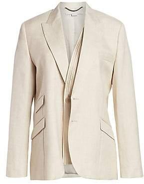 Stella McCartney Women's Mix-Tailoring Oversize Blazer
