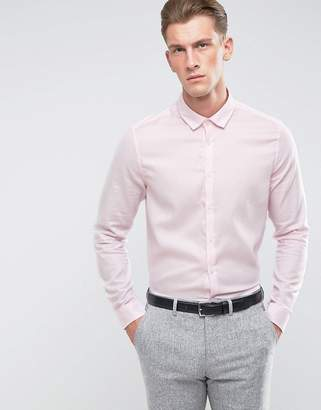Asos Premium Formal Regular Fit Royal Oxford With Easy Care Finish In Pink