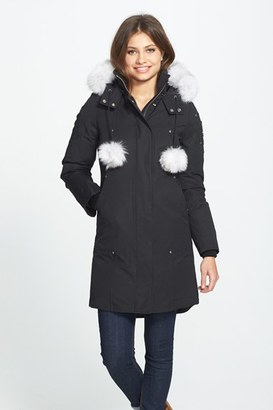 Women's Moose Knuckles 'Stirling' Down Parka With Genuine Fox Fur Trim $850 thestylecure.com