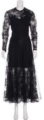 Elie Saab Macrame Lace Evening Dress w/ Tags Black Macrame Lace Evening Dress w/ Tags