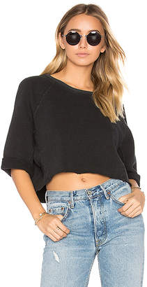 A Gold E Lara Oversized Crop Sweatshirt