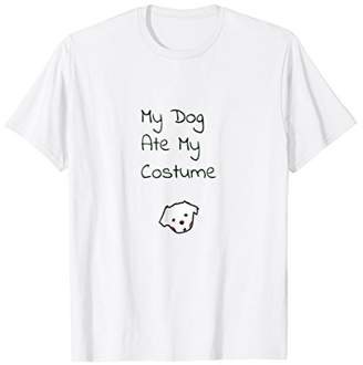 Cute Dog Ate My Costume Funny Gift T-Shirt