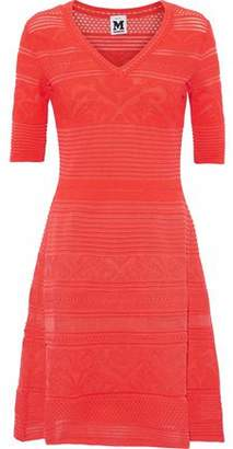 M Missoni Ribbed And Pointelle-Knit Dress