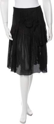 No.21 No. 21 Open Knit Pleated Skirt w/ Tags