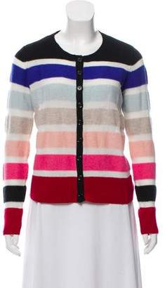 Sonia Rykiel Sonia by Wool Striped Long Sleeve Cardigan