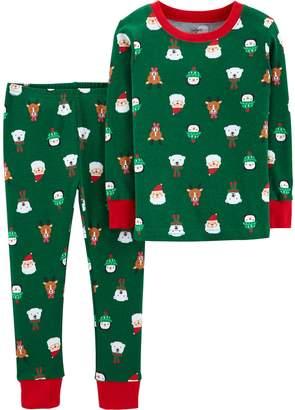 Carter's Baby Boy Christmas Top & Bottoms Pajama Set