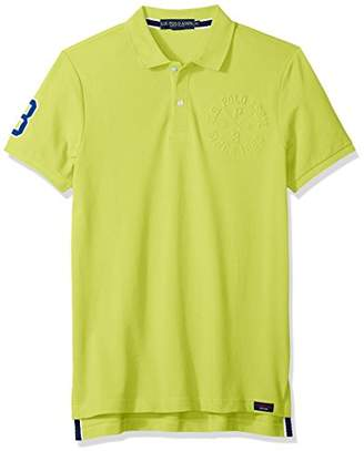 U.S. Polo Assn. Men's Short Sleeve Slim Fit Solid Pique Polo Shirt
