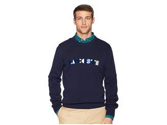 Lacoste Long Sleeve Letter Block Graphic Sweater