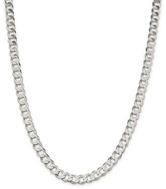 Jewelrypot Sterling Silver 8in 8mm Close Link Flat Men's Curb Chain Bracelet