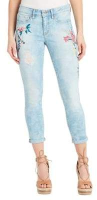 Jessica Simpson Forever Rolled Embroidered Skinny Jeans
