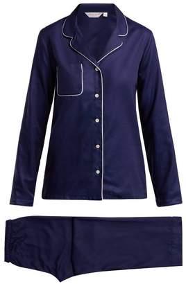 Derek Rose Lombard 6 Cotton Pyjama Set - Womens - Navy Multi