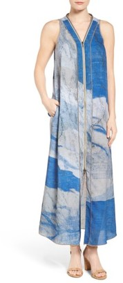 Women's Nic+Zoe Moonlight Zipper Maxi Dress $198 thestylecure.com
